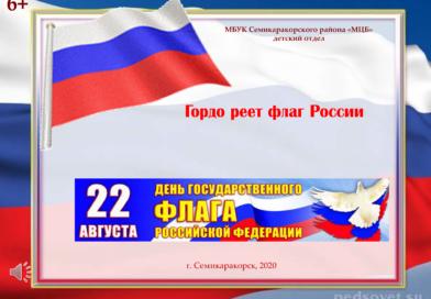 Мультимедийный час информации «Гордо реет флаг России»